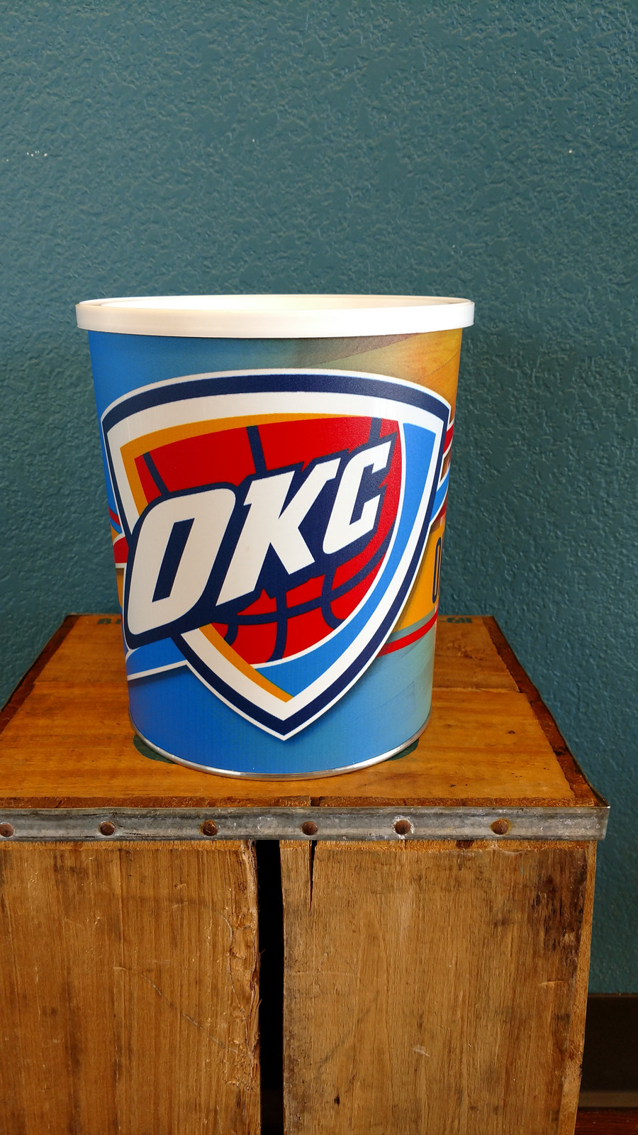 OKlahoma City 1 Gallon Popcorn Tin
