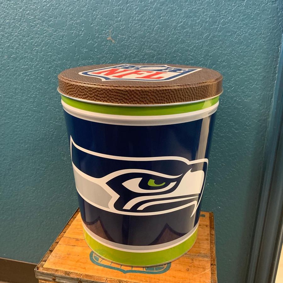 Seattle Seahawks 3 Gallon Popcorn Tin