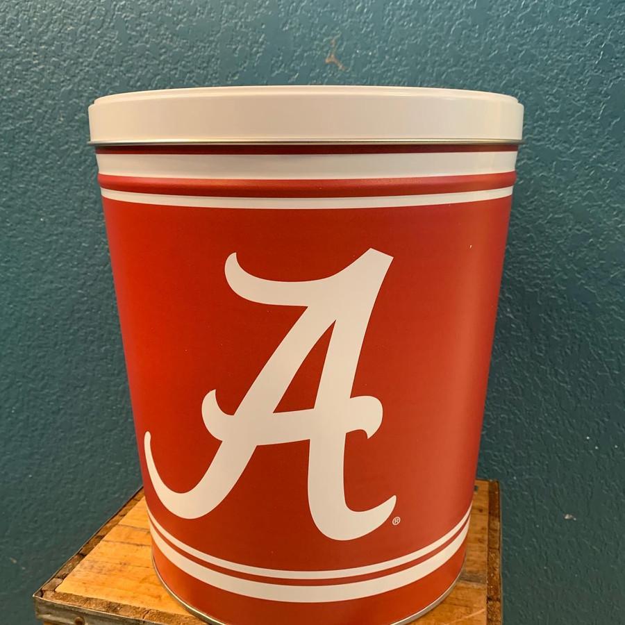 Alabama University 3 Gallon Popcorn Tin