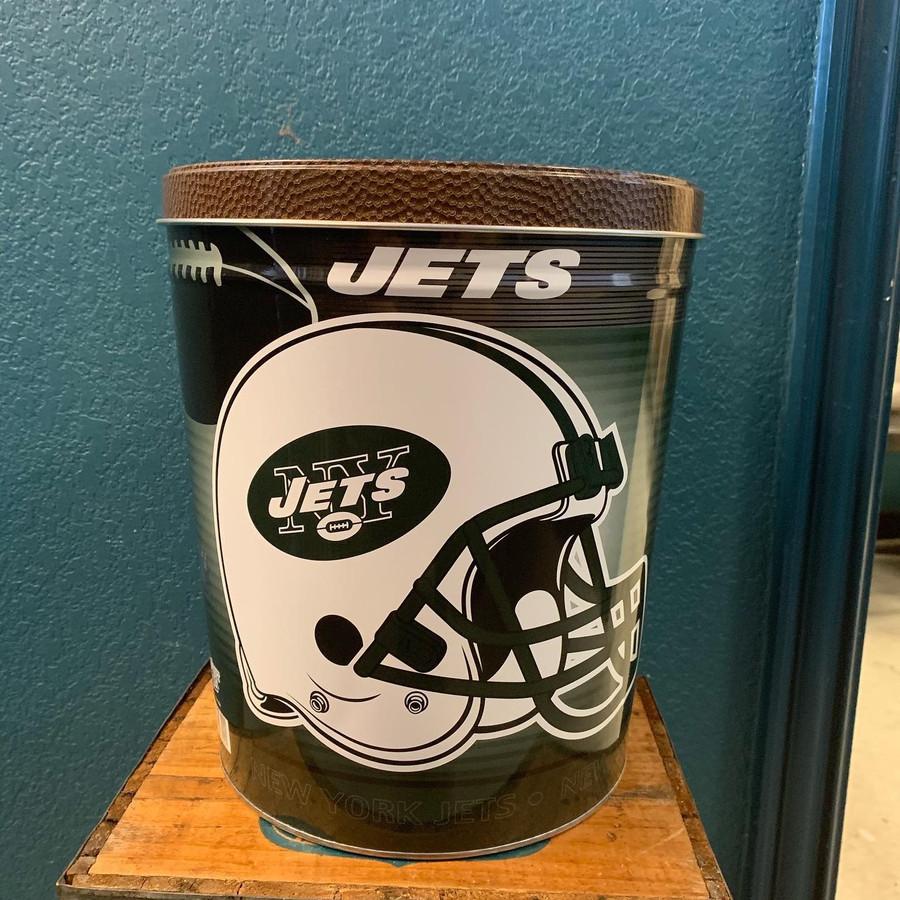 New York Jets 3 Gallon Popcorn TIn