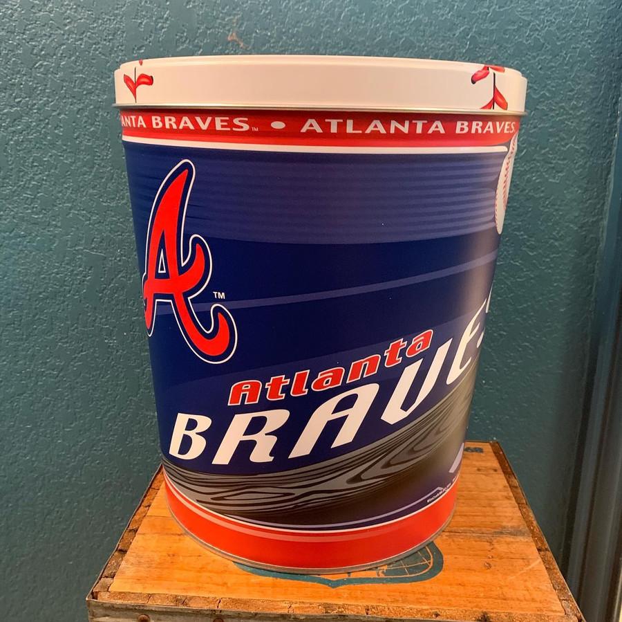 Atlanta Braves 3 Gallon Popcorn TIn