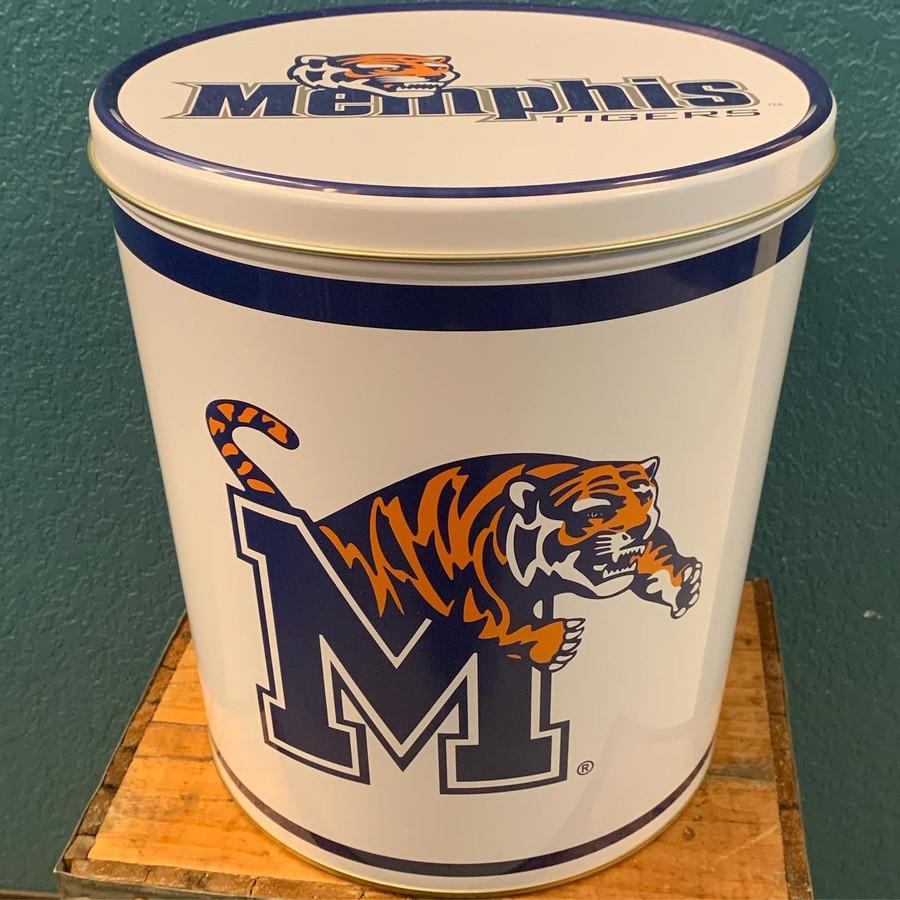 Memphis Tigers 3 Gallon Popcorn Tin
