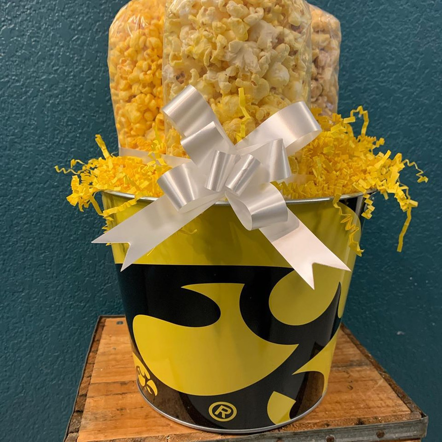 Iowa Hawkeyes Bucket with Butter, Cheese & Caramel