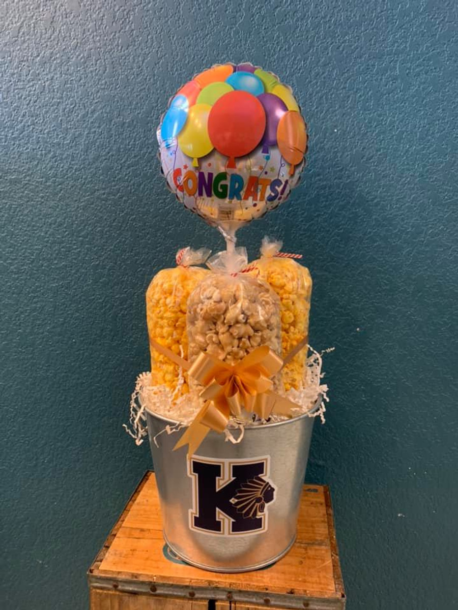 Keller High School Bucket with Cheese, Caramel & Cheesy Ranch