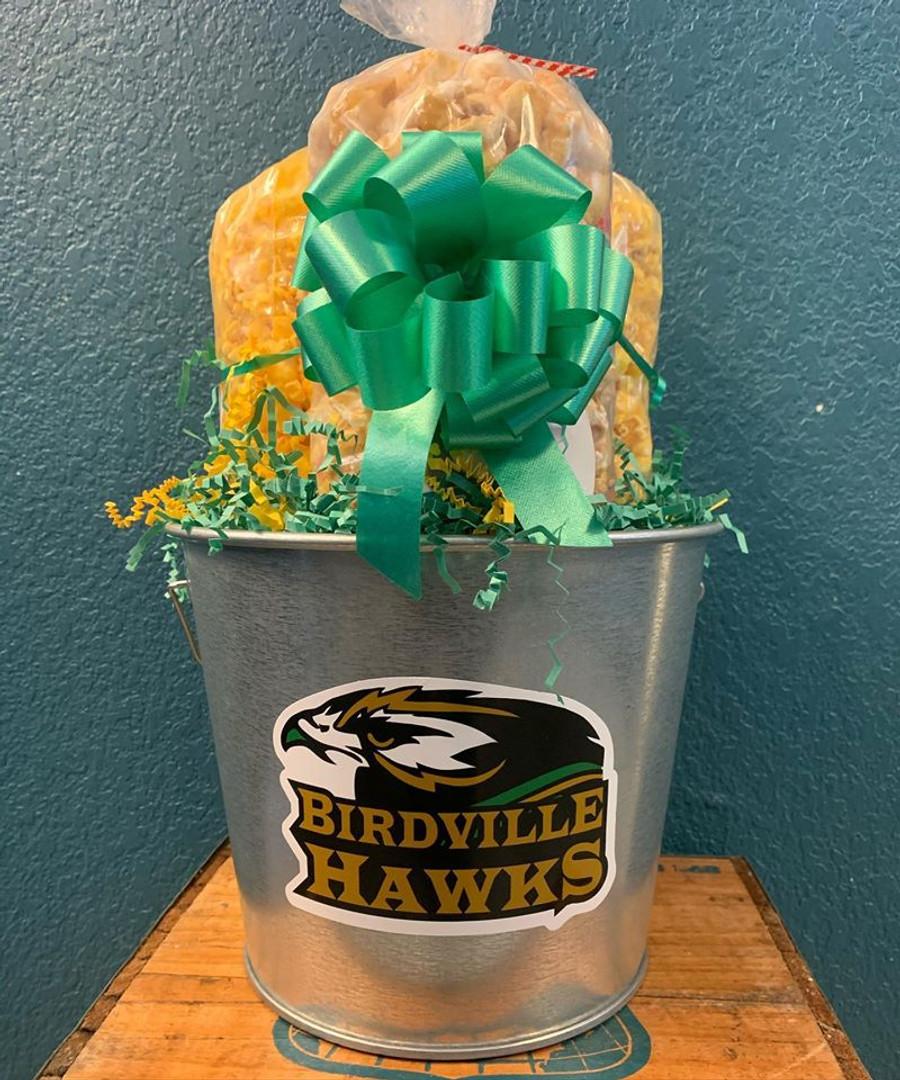Birdville High School Bucket with Cheese, Caramel, & Cheesy Ranch
