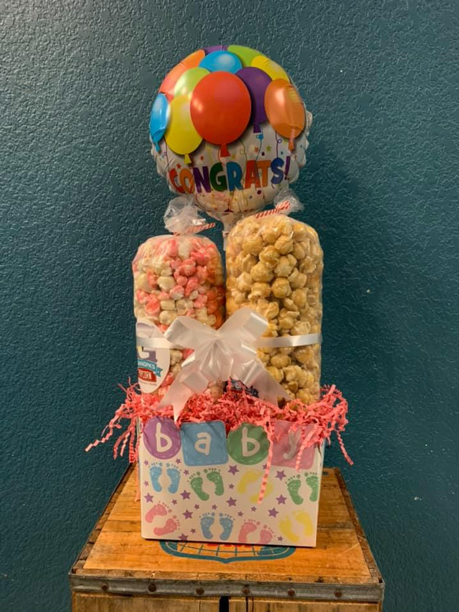 Congratulations Baby Gift with Cotton Candy/Vanilla & Caramel