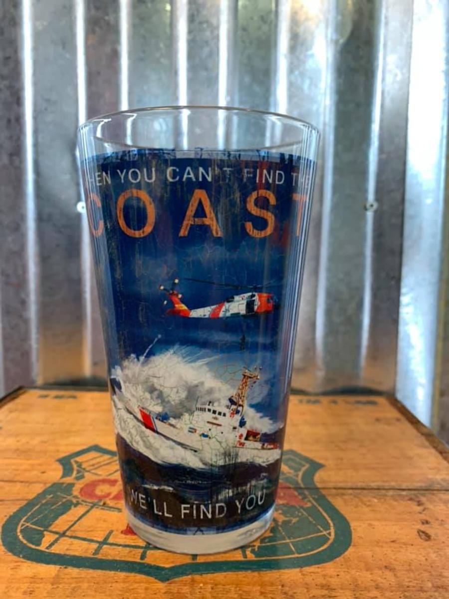 Coast Guard Glass Mug