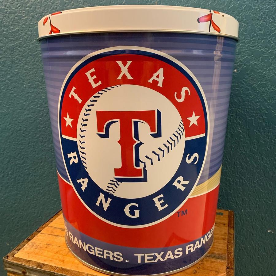 Texas Rangers 3 Gallon Popcorn Tin