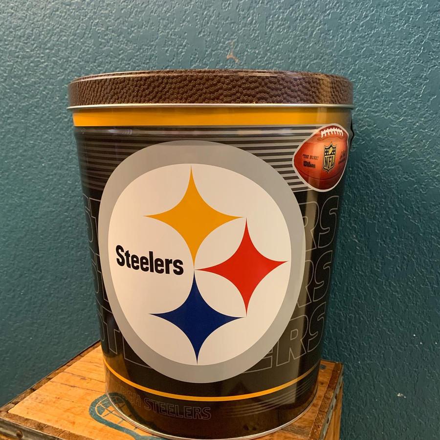 Pittsburgh Steelers Three Gallon Popcorn Tin