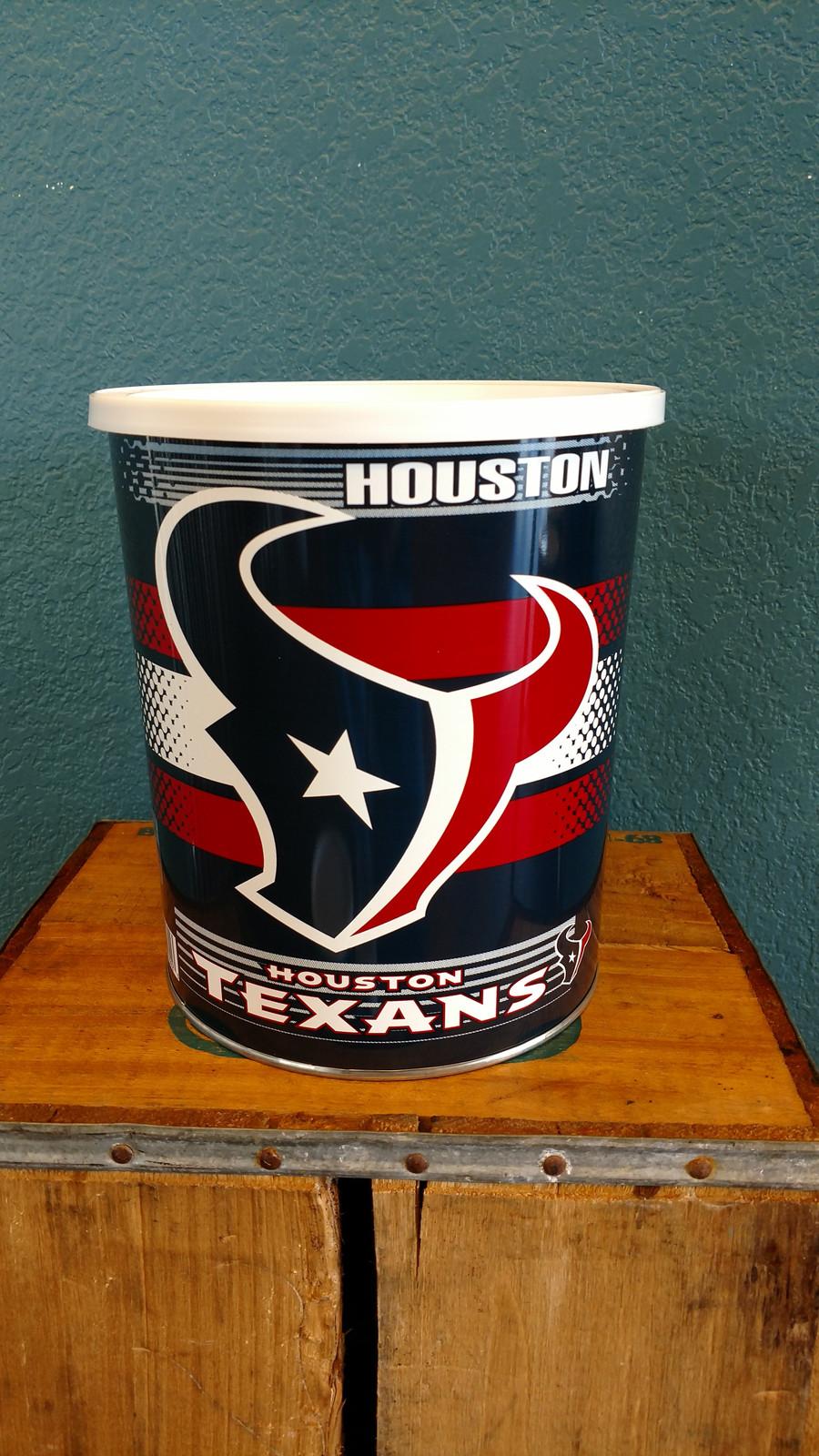 Houston Texans One Gallon Popcorn Tin