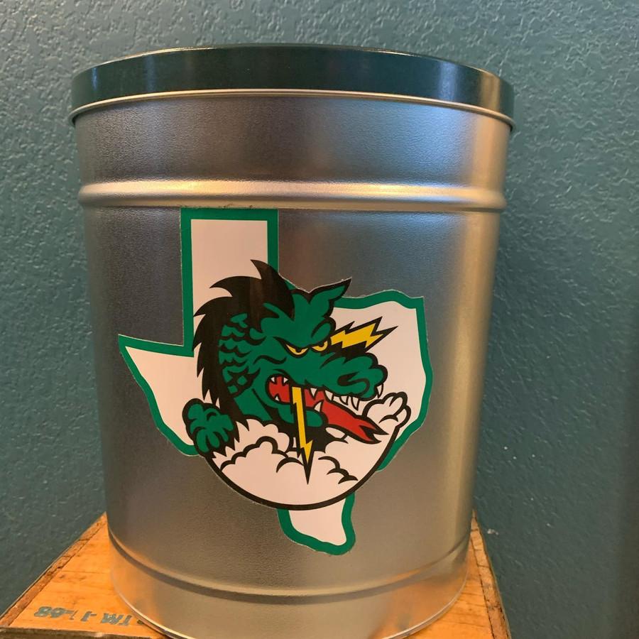 Southlake Dragon 3.5 Gallon Popcorn Tin