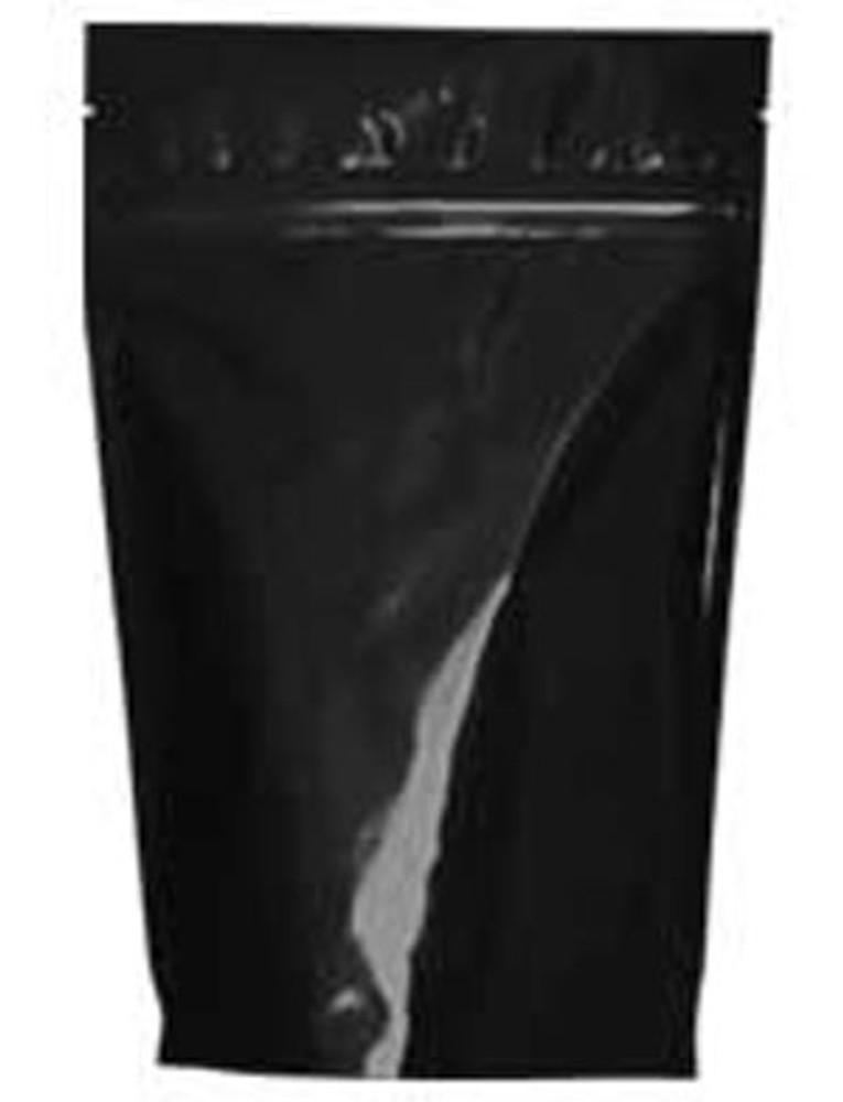 Resealable zip close bag with one-way degassing valve