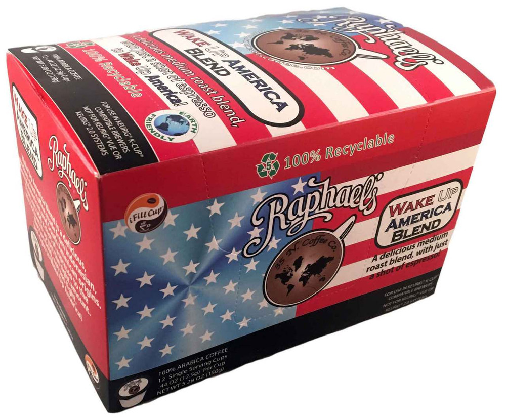 Wake Up America - Box of 12 Single-Serve Cups