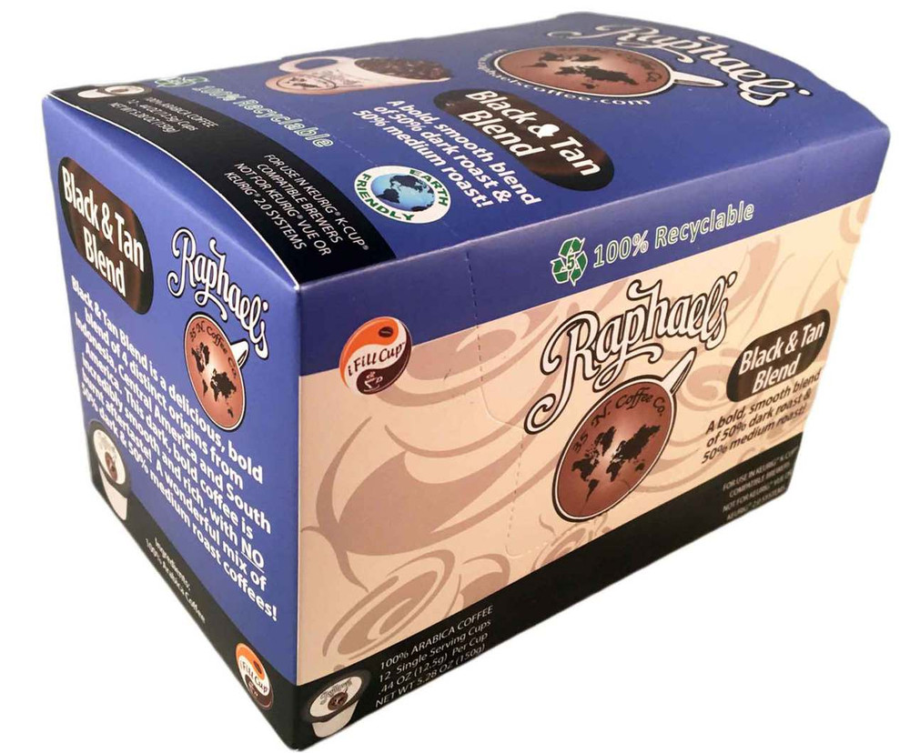 Black and Tan - Box of 12 Single-Serve Cups