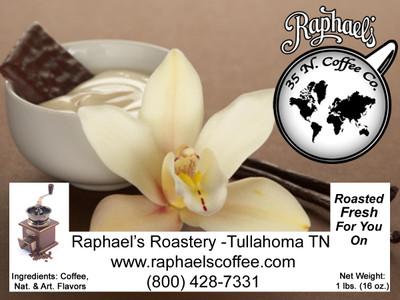 Certified Fair Trade, classic vanilla flavor.