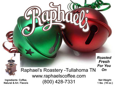 Free 1/2 lb. sampler of our delicious Jingle Bell Java flavored coffee (Caramel, Rum, Pecan, Cinnamon & Vanilla) with $50 purchase.