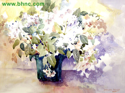 Big White Flowers by Sharleen Robson