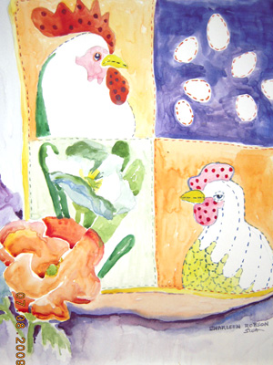 Rooster Quilt by Sharleen Robson
