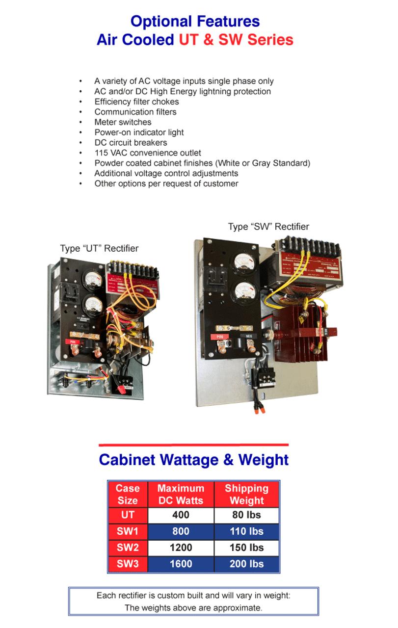 Air cooled UT & SW Series