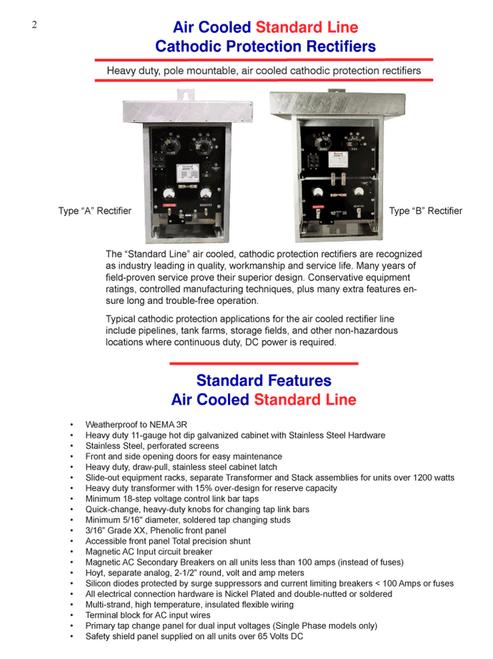 Air cooled Standard line