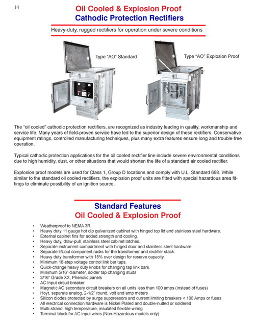 Oil Cooled & Explosion Proof