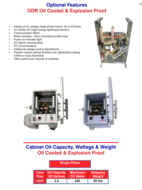 ODR Oil Cooled & Explosion Proof