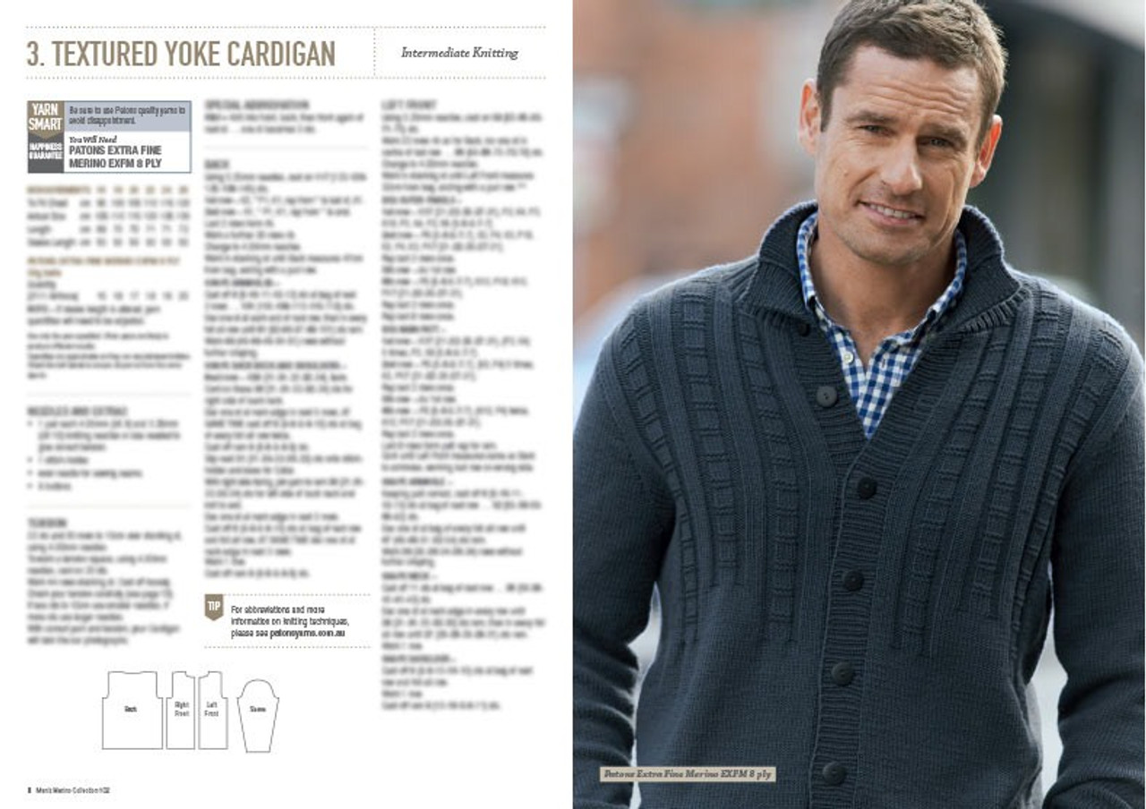102 Mens Merino Collection cardigan