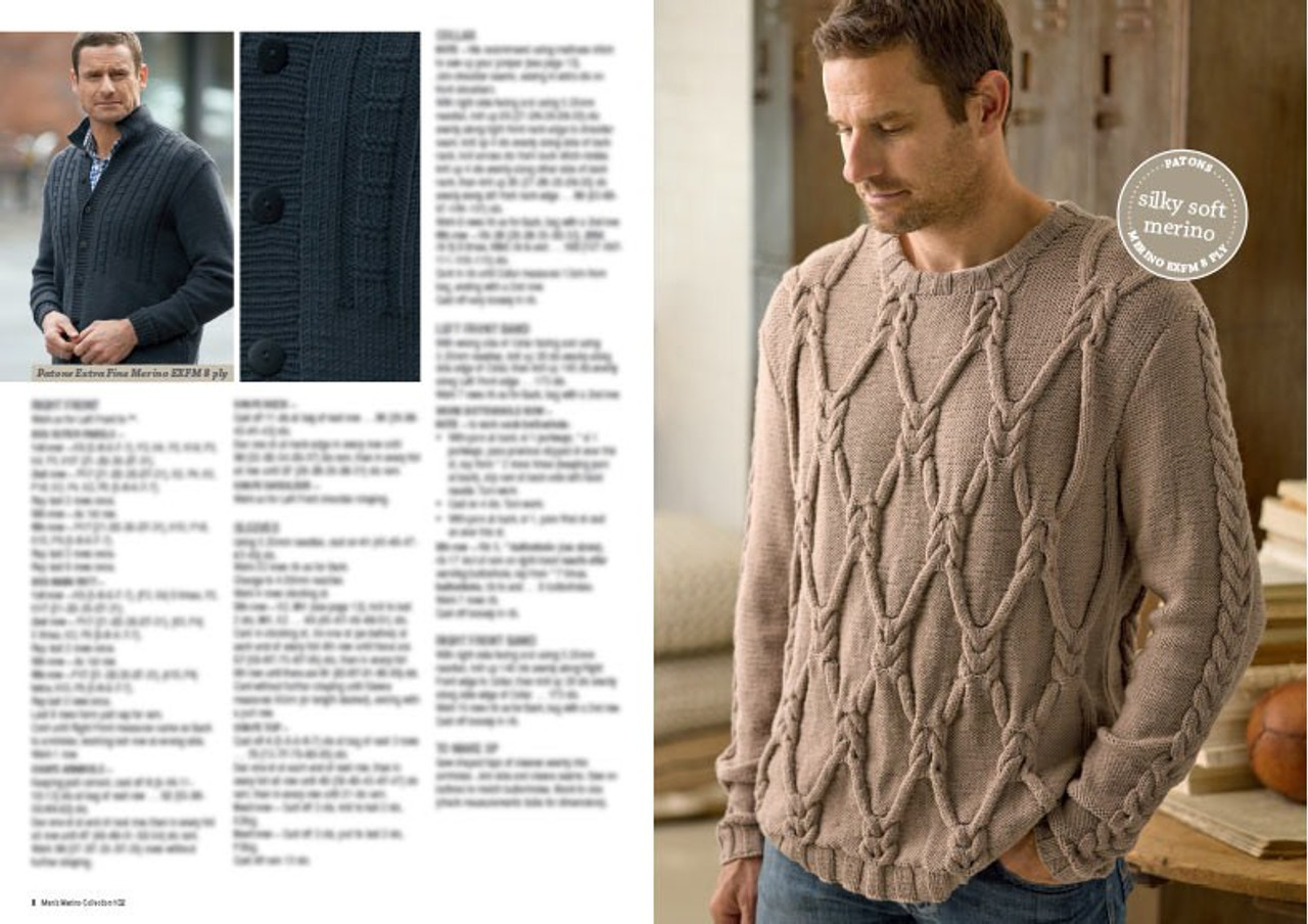 102 Mens Merino Collection cabled jumper