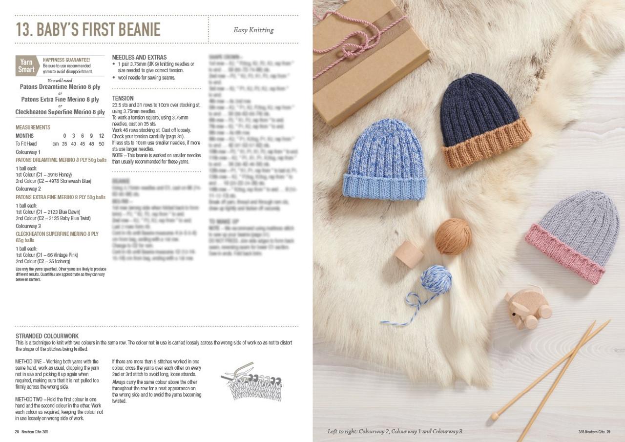 368 Newborn Gifts style 13 babys first beanie
