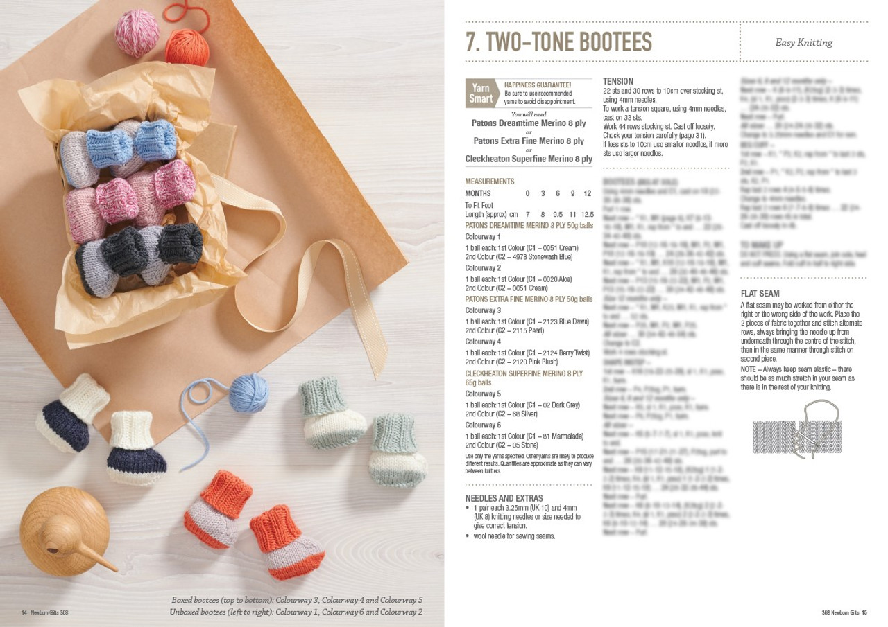368 Newborn Gifts style 7 two-tone booties