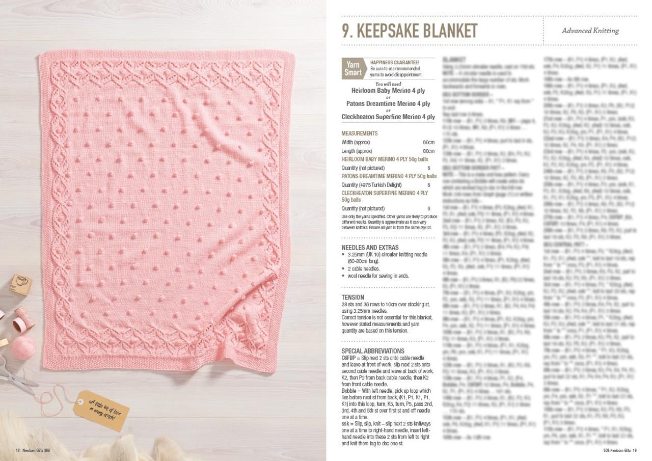 368 Newborn Gifts style 9 keepsake blanket