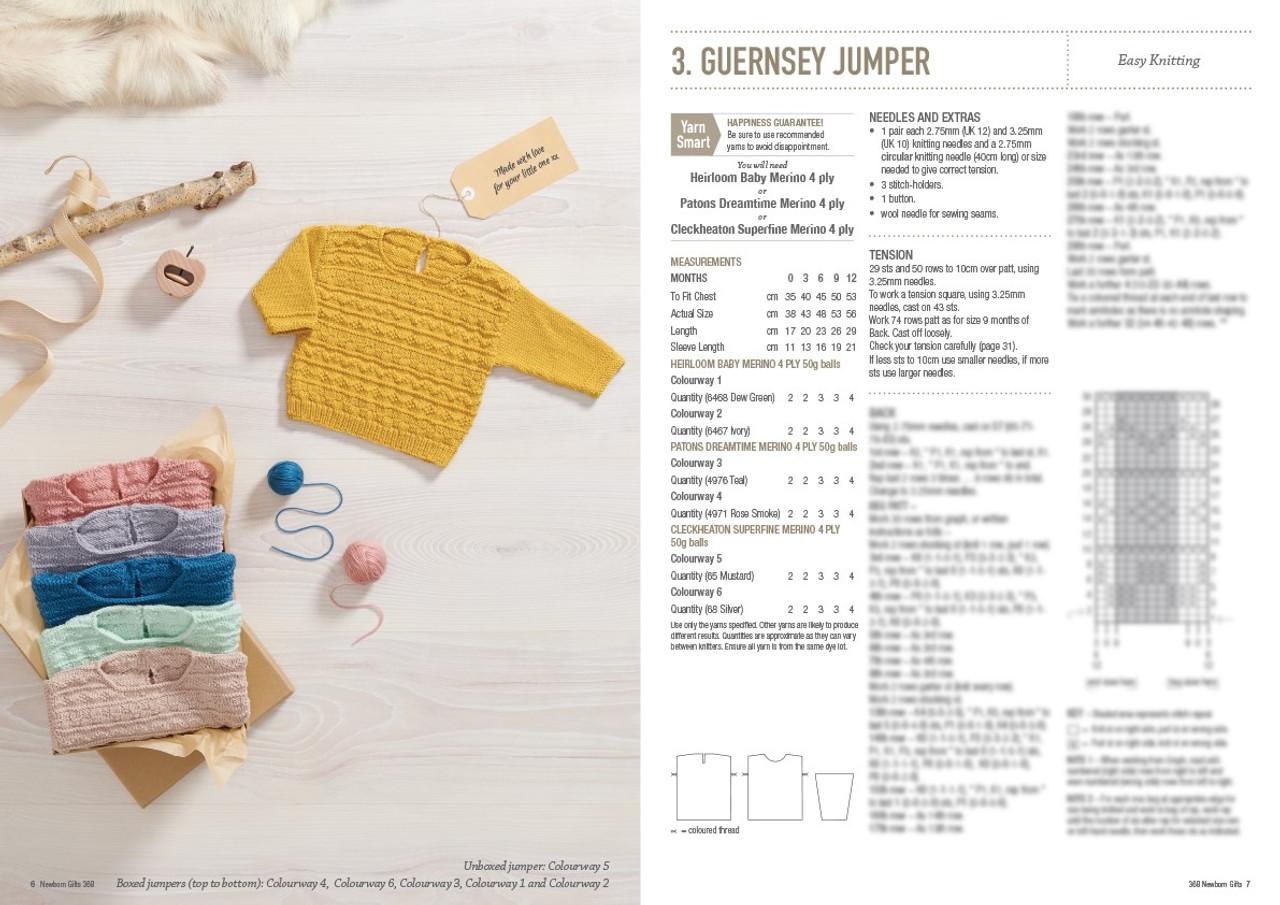 368 Newborn Gifts style 3 guernsey jumper