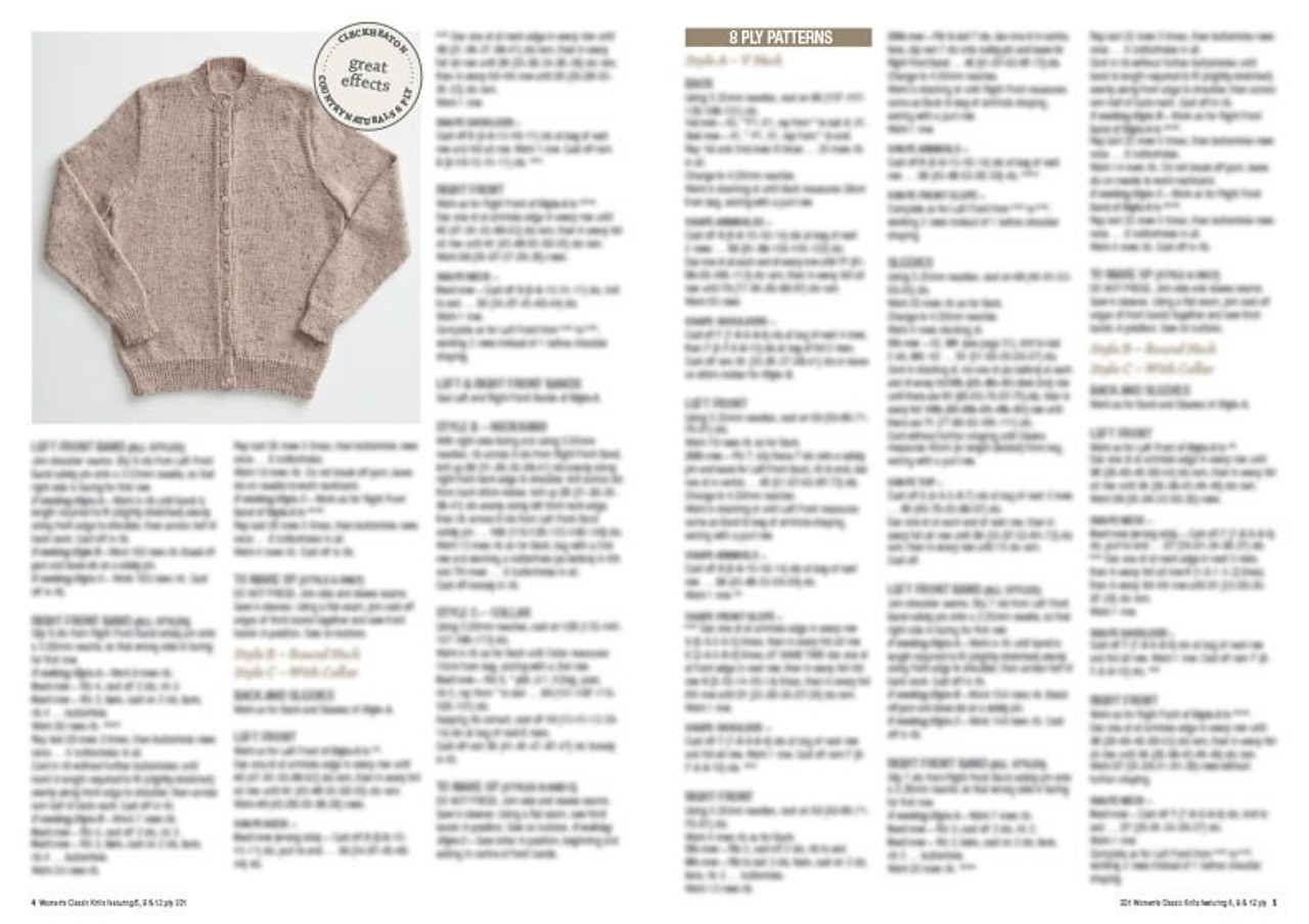 301 Women's Classic Knits style 1 cardigan round neck