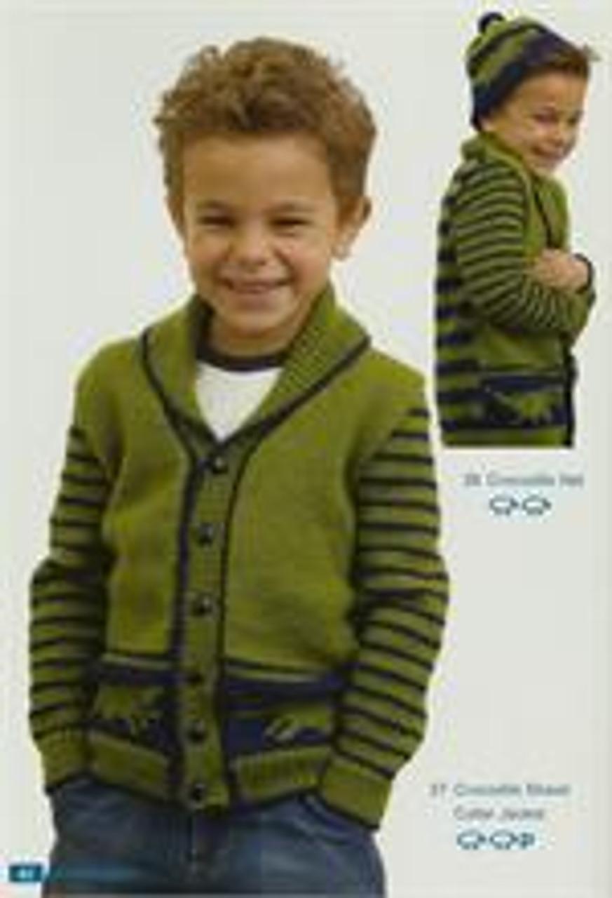 Moda book issue 5 designs 27 crocodile jacket 28 beanie