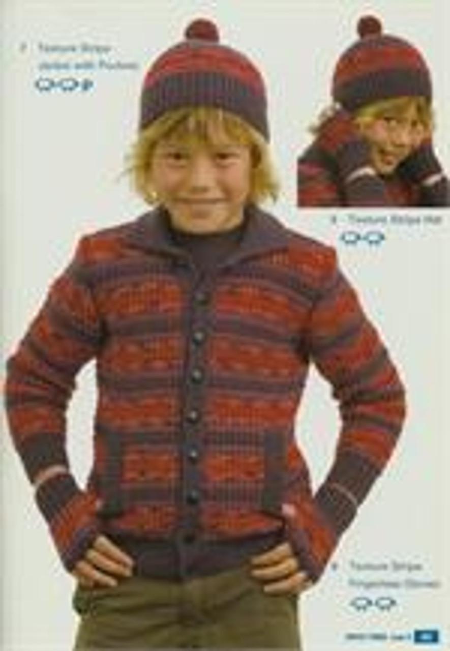Moda book issue 5 designs 7 stripe jacket 8 mitts 9 beanie
