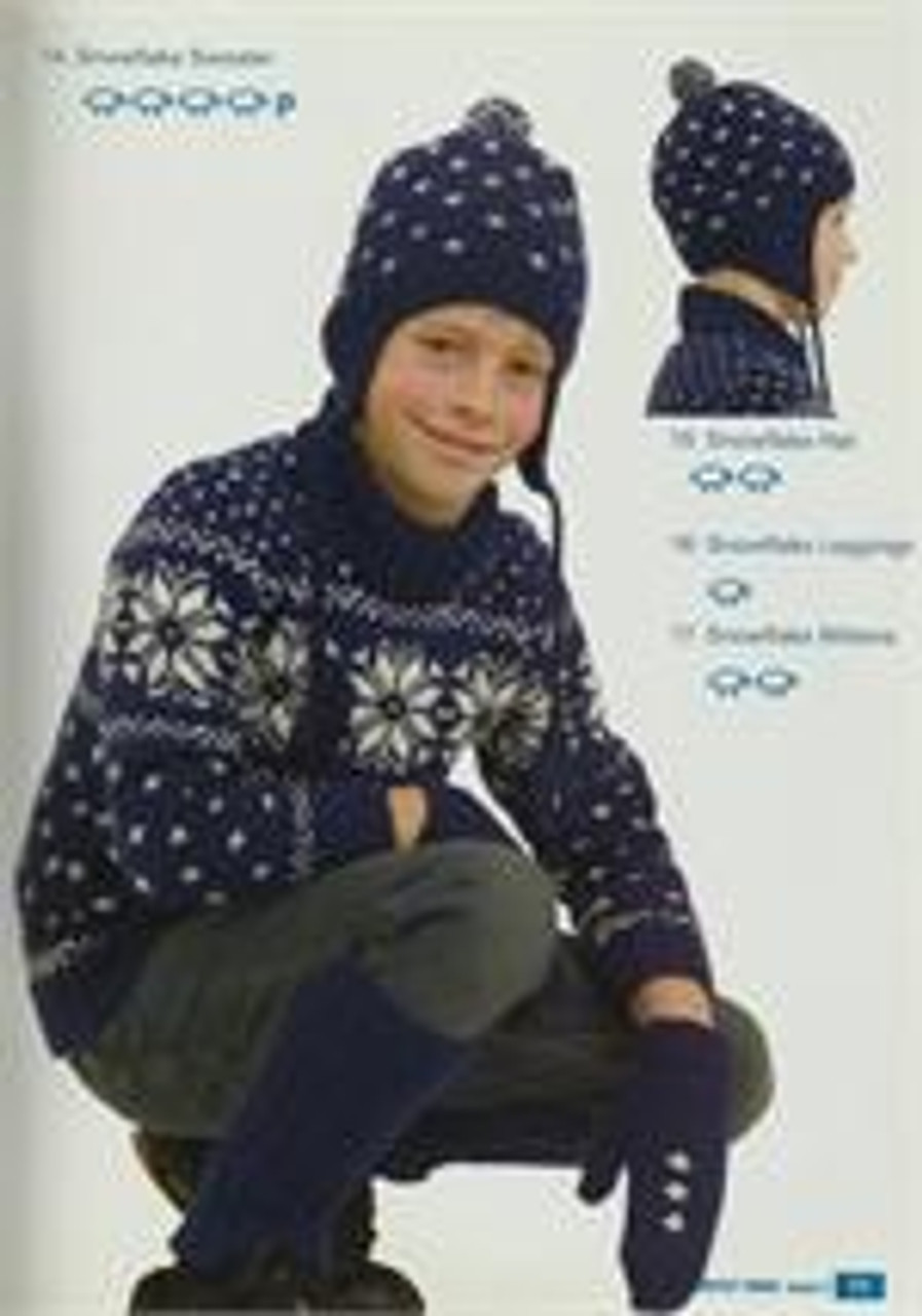 Moda book issue 5 designs 14 to 17 skiing jumper hat legwarmers and mittens