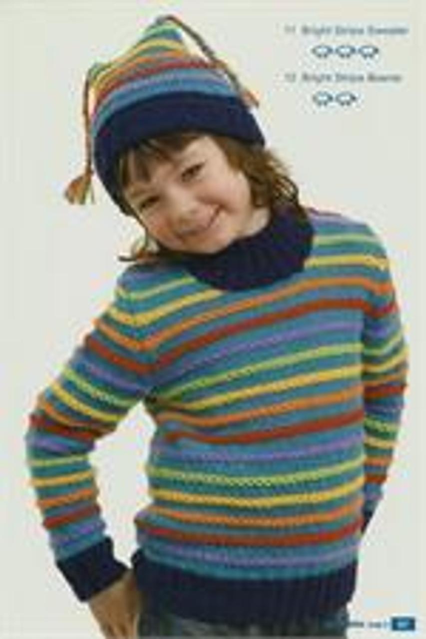 Moda book issue 5 designs 11 stripe jacket 12 beanie