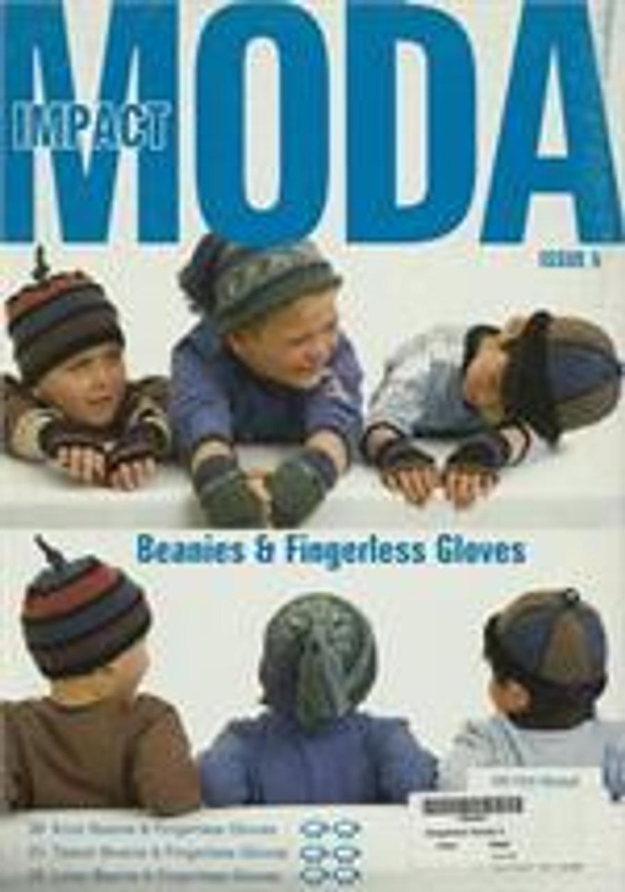 Moda book issue 5 designs 30, 32, 33 beanies and fingerless gloves