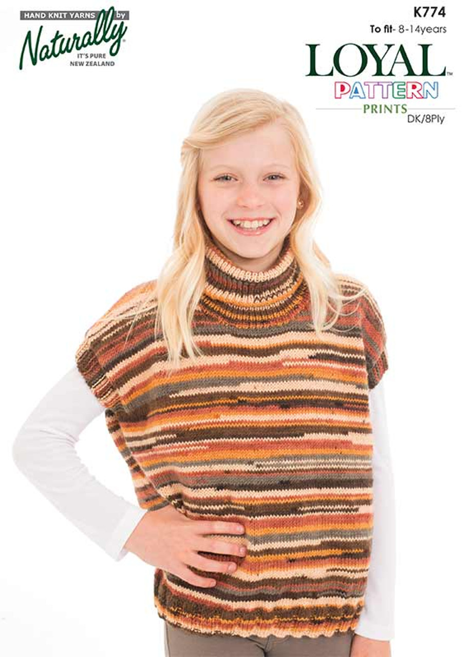 K774 Loyal Print 8 ply Pullover Tunic 8 to 14 years