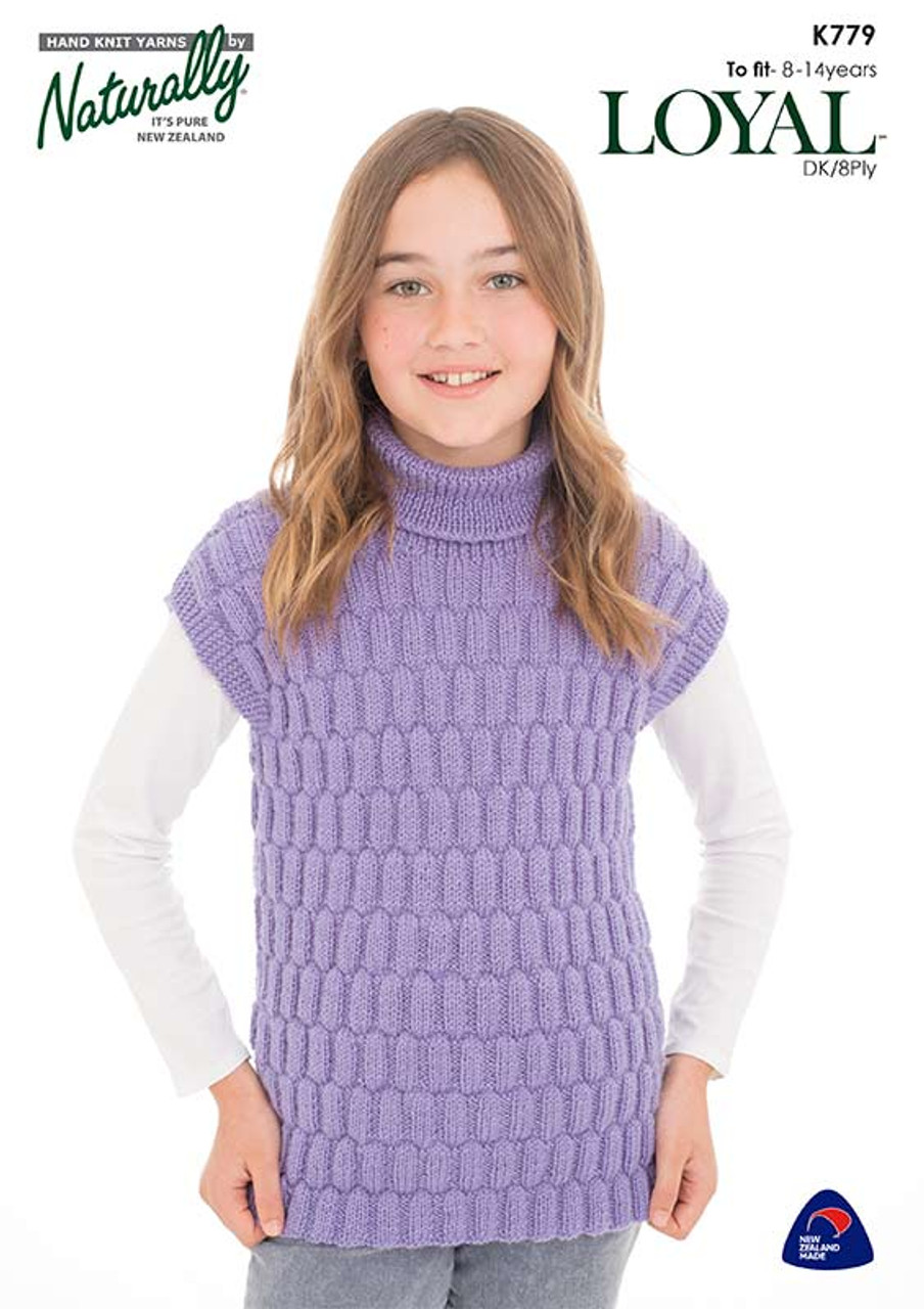K779 Loyal 8 ply Textured Tunic 8 to 14 years