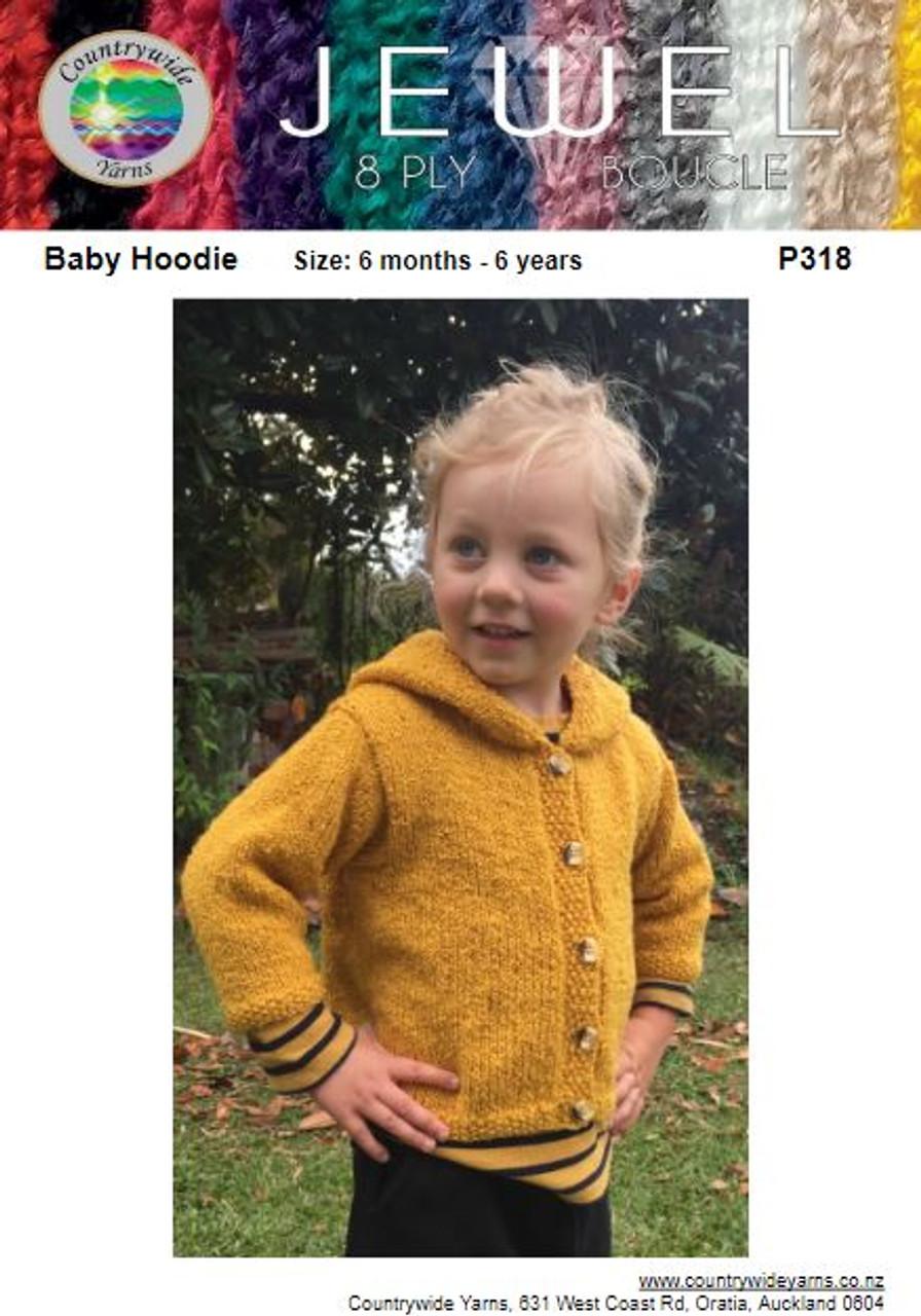 P318 Jewel Boucle 8ply Hoodie
