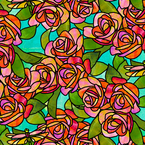 Stained Glass Flora by Suzanne Cruise