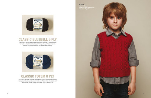 1307 Kids Classics - 2 to 10 years - 6 designs in 5 ply and 6 designs in 8ply