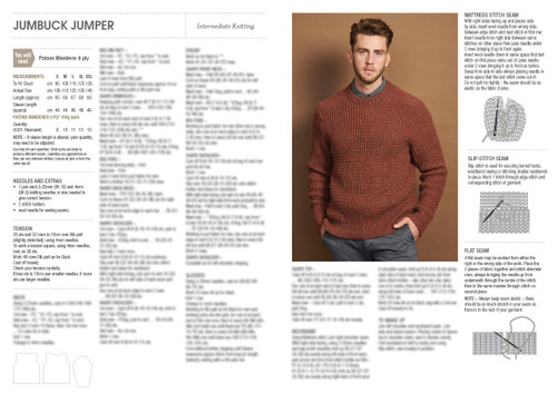 0051 Marle Knits for Men 8ply Jumper & Beanie sizes S-XXL