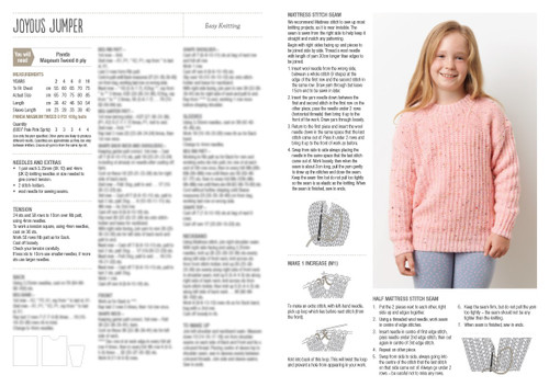 817 Cheery Kids Knits 8ply Jumper & Mitts 2 to 10 years
