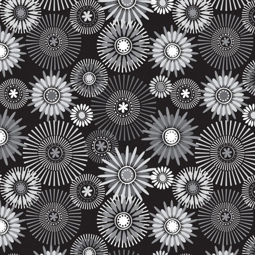 """Modern Garden Black/Grey/White wide back 2.8m/108"""" wide"""