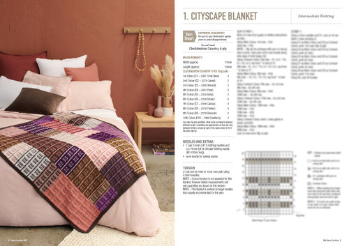 Home Comforts blankets and cushions in 8ply knit and crochet