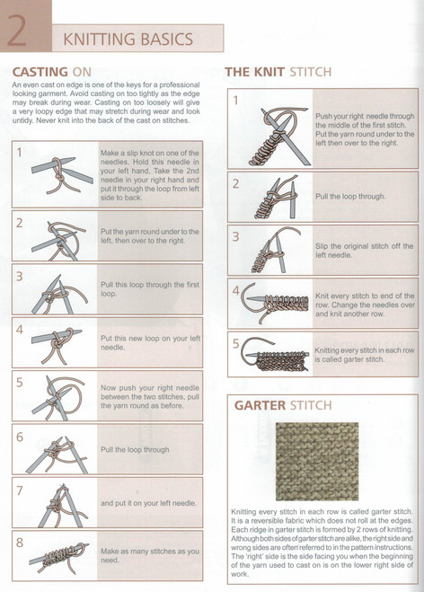 1249 Learn to Knit instructions