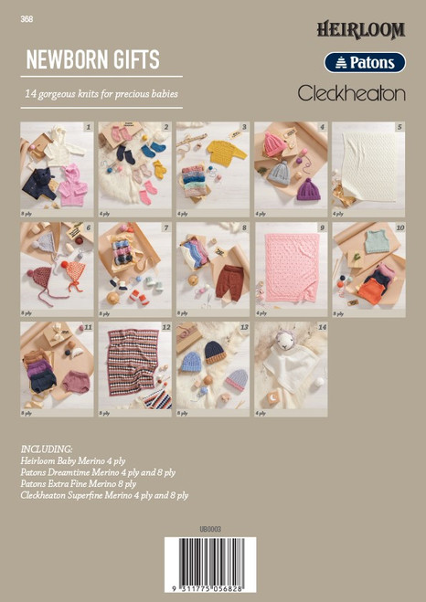368 Newborn Gifts back cover
