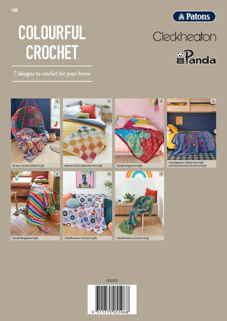 Book 108 Colourful Crochet back cover